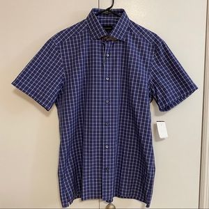NWT Ermenegildo Zegna Short Sleeve Button Down